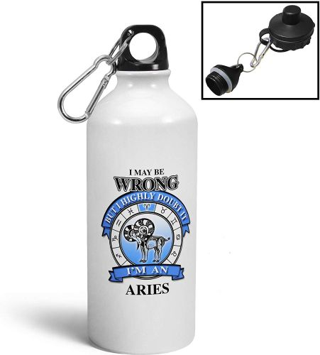 I May Be Wrong But I Highly Doubt It Im an (Star Sign) Aluminium Sports Water Bottle/Canteen